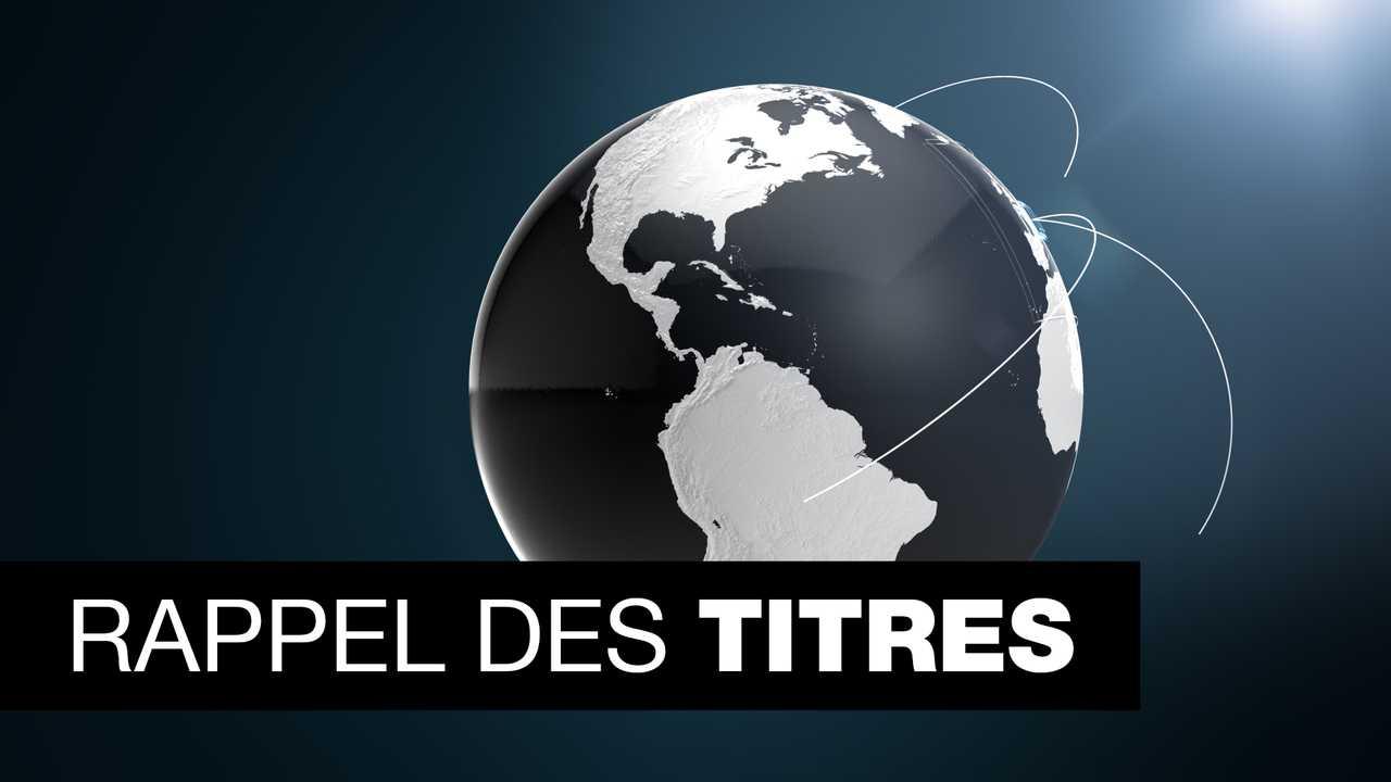 Sur France 24 dès 06h54 : Rappel des titres